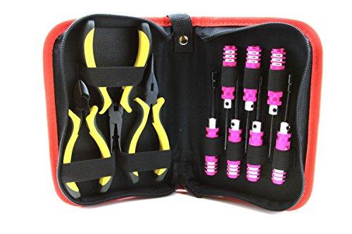 Strongrr New 10 Pcs Ulitmate Professional Precision Screwdrivers Repair Tool Kit for Hobby RC Walkera V450D03 6Ch RTF Heli w Devo7 with Canvas Bag