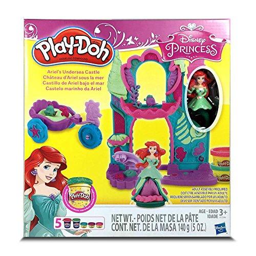 Play Doe Play-Doh ~ Disney Ariel Undersea Castle Disney Princess Ariel Undersea Castle wheat clay clay Toy Set