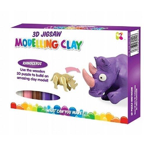 Blue Frog Toys Rhino 3D Jigsaw Modelling Clay Toy