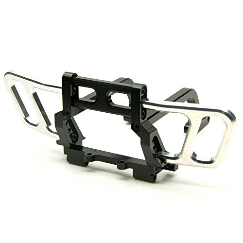 Jack-Store Metal Front Bumper Bull Bar for 110 RC AXIAL Wraith Rock Crawler Truck Black