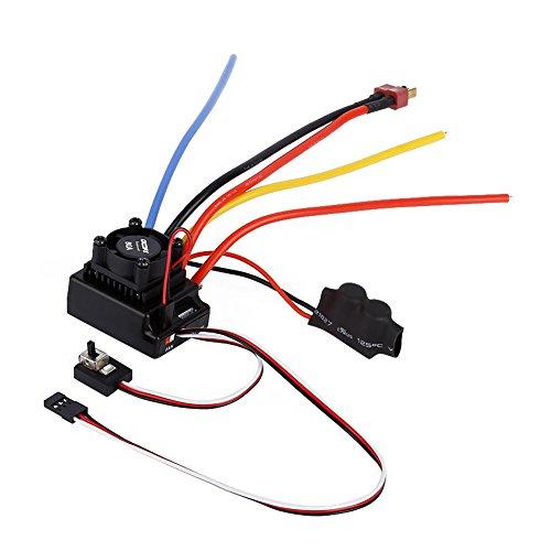 Alloet OCDAY 110 80A Adjustable Sensored Sensorless Brushless ESC For Car Truck