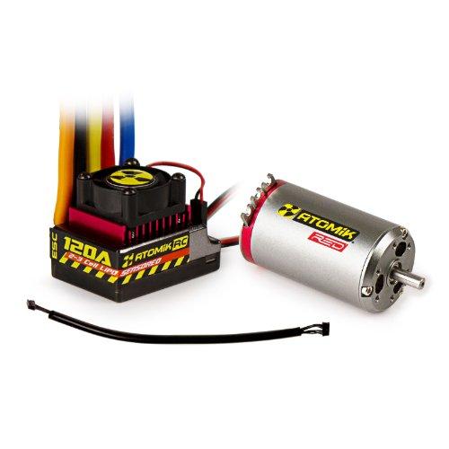 Atomik RC Red 550 4400kv 45T Brushless Sensored Motor 120A ESC Kit 110 RC Traxxas