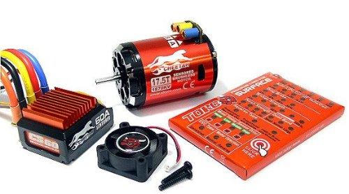 SKYRC CHEETAH 1870KV 175T Sensored Brushless Motor CS60 60A ESC Combo ME635 with RCECHO Full Version Apps Edition