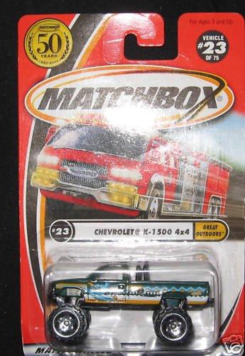 Matchbox Chevrolet K-1500 4x4 Truck Great Outdoors 23