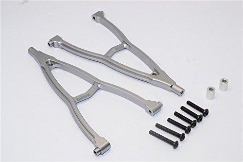 HPI Crawler King Upgrade Parts Aluminum FrontRear Y Plate For 310mm Wheelbase - 2Pcs Set Gray Silver