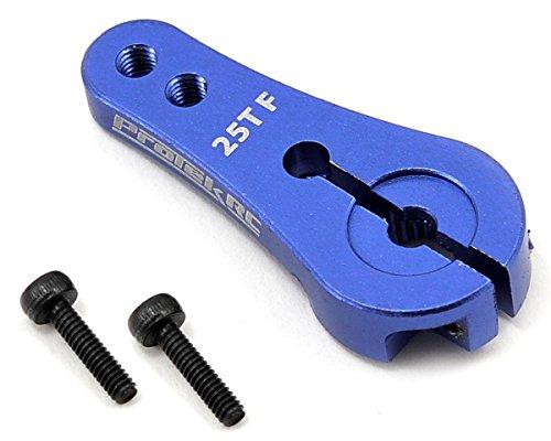 ProTek RC 4mm Aluminum Long Clamp Lock Servo Horn Blue 25T-FutabaOrionSavoxProTek