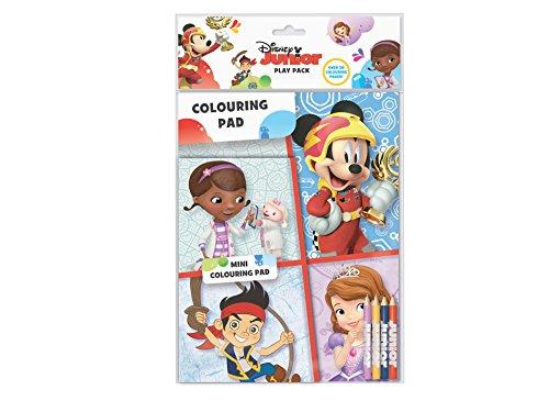 Disney Junior Play Pack Colouring Pads Pencils Childrens Activity Set Girls Kids