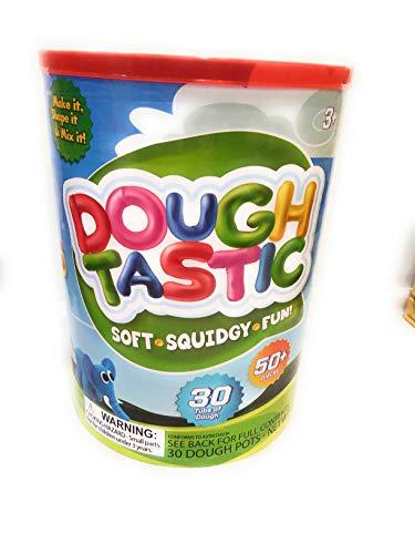 Dough Tastic 50 Piece PretendPlay Creative Shape Maker Kids Activity Set 30 Tubs of Doh