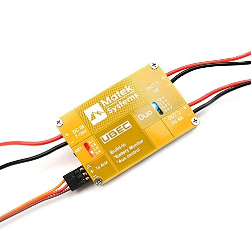 Crazepony Matek FPV Dual BEC UBEC 4A 5V - 12V Output Support 7 - 26V Input with Remote Switch for FPV RC Quadcopter Drone