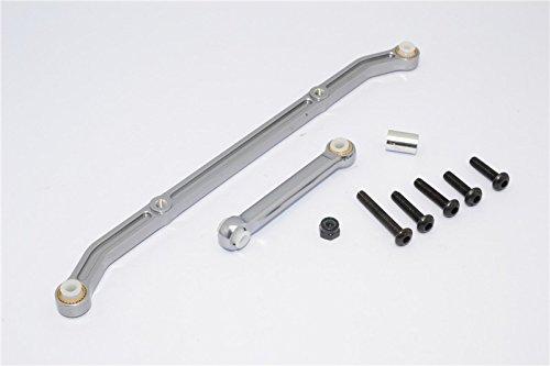 Axial SCX10 Upgrade Parts Aluminum Tie Rod - 1 Set Gray Silver