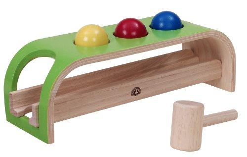 Wonderworld Rolling Ball Activity Pounding Kids Toy - Multi-Colored Base 5 Piece Set