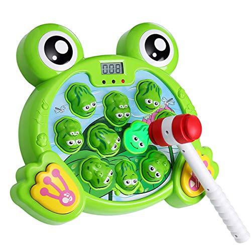 Yuham Whack a Frog Pounding Game Developmental Toys for 23 4 5 6 7 8 Year Old Boys Girls Gift Helps Fine Motor Skills