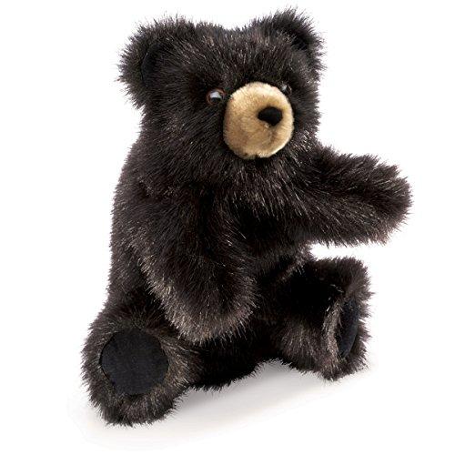 Folkmanis Baby Black Bear Hand Puppet