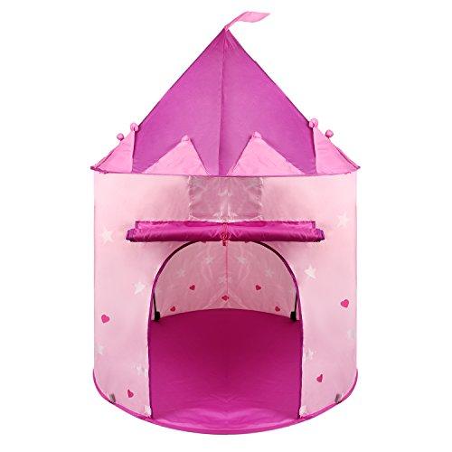 Princess Castle Play Tent for Kids Pink Indoor Outdoor