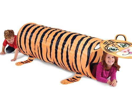 Kids Play Indooroutdoor Tiger Design Tunnel Tent