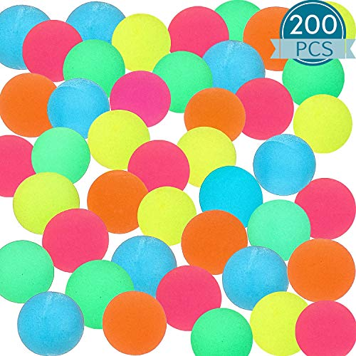 200 Pieces Bouncy Balls 088 Inches Mixed Color Bouncing Balls Party Bag Filler Party Favors Bag Stuffers Fun Toy Gift