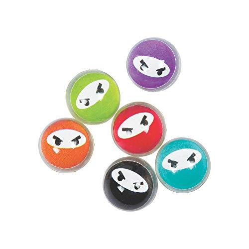 Fun Express - Bulk Vending Ninja Bouncing Balls 27mm 2 - Toys - Balls - Bouncing Balls - 250 Pieces