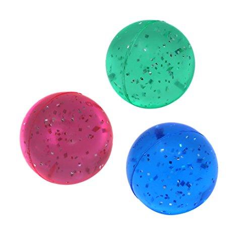 SNInc Glitter Bouncing Balls - Party Favor Pack of 30 Super Balls