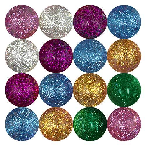 Entervending Glitter Super Bouncy Balls for Toy Vending Machine 25 pcs 49 mm