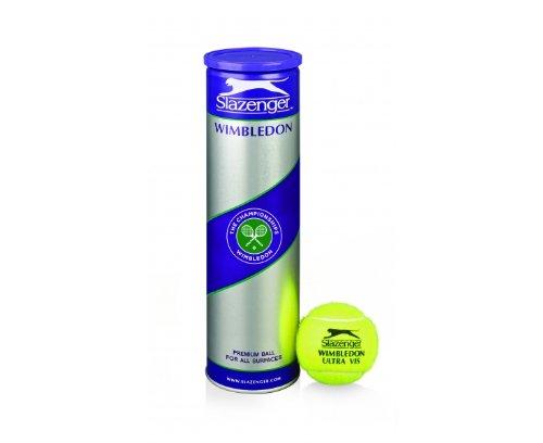 SLAZENGER Wimbledon Ultra Vis Tennis Balls with Hydroguard 4 Balls