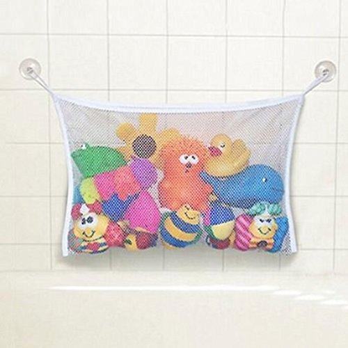 Kid Baby White Bath Tub Toy Hanging Mesh Storage Bag Organizer Suction Bathroom