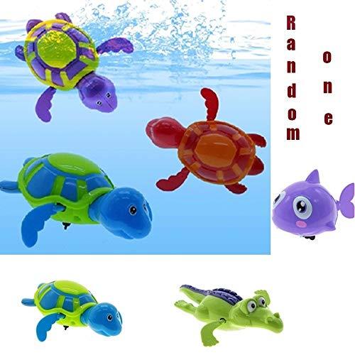 Baby Bath Toy 3 Swimming Animal roll up Chain Hairspring Baby Bath Toy Bathroom Gift C