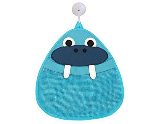 Toddler Baby Bath Toy Organizer - Kids Bathroom Bath Toys Toy Storage Organiser Net Bag With Suckers Blue