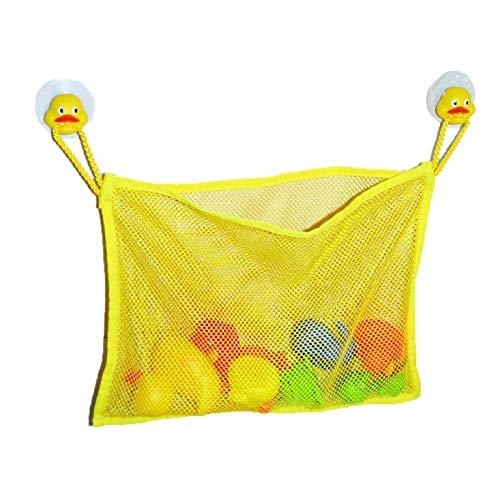 Bath Tub Toys Organizer Duck Heads -Suction Cups Yellow