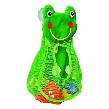 Bath Tub Toys Organizer Frog Head -Suction Cups Green