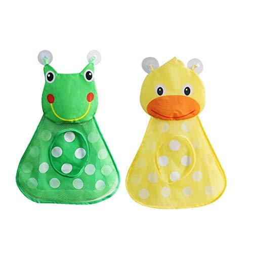 MINKOU Bath Toy Storage BagBath Toy Net2Pcs Baby Bathtub Toy Mesh Duck Organizer Holder Bathroom Organiser