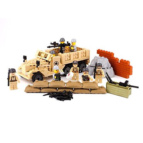 Century Military Series M2 Half Track with Minifigures Build Blocks Building Blocks Toy
