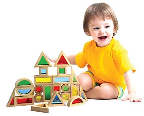 Kids Destiny Classic Wooden Rainbow Educational Building blocks Set