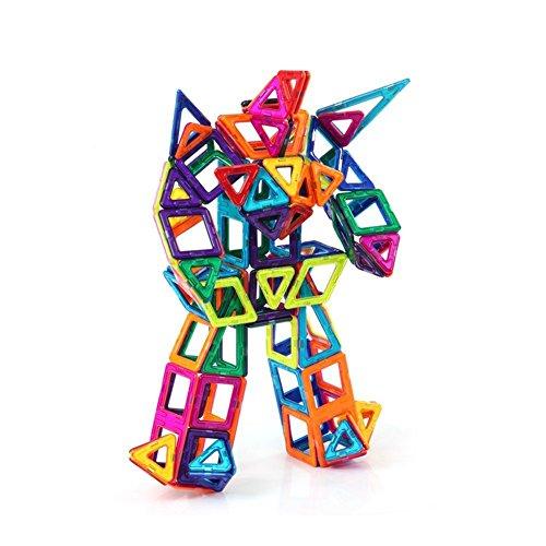 Mallya Mag-Wisdom 71 piece set Magnet Building Tiles Clear 3D color Magnetic Building Blocks-Creativity beyond