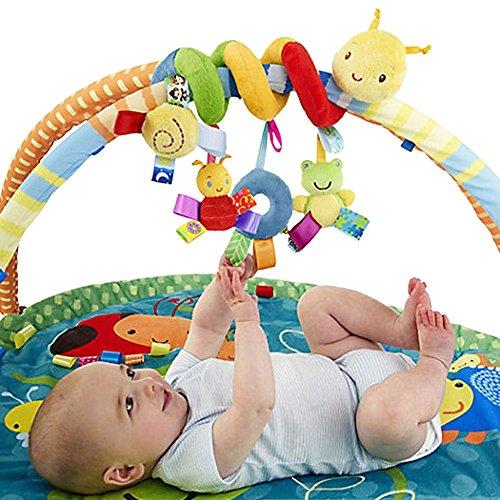 EITC Baby Crib Toy Wraps Around Crib Rail or Stroller Kid Baby Pram Hanging Rattles Spiral Stroller Car Seat Toy