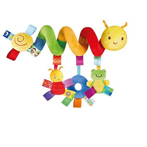 UEETEK Kid Baby Crib Cot Pram Hanging Rattles Spiral Stroller Car Seat Toy with Ringing Bell