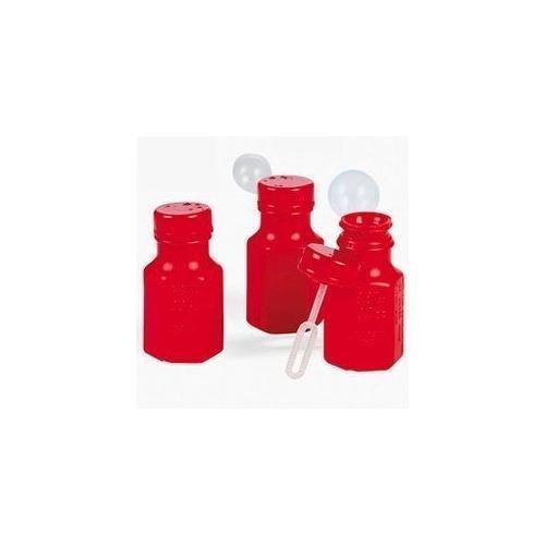 Fun Express Mini Hexagon Red Bubble Bottles 4 Dozen