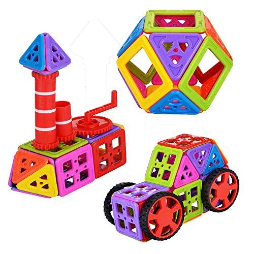 Newisland 66pcs Building Blocks Set Inspiring Magnetic Stack Tiles Creativity Toys for Kids