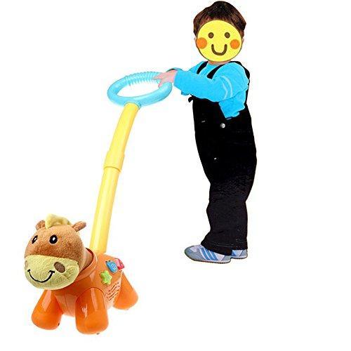 Baby Walking Education Musical Hand Pushing Gog Toy Walker For Toddler Xmas Gift