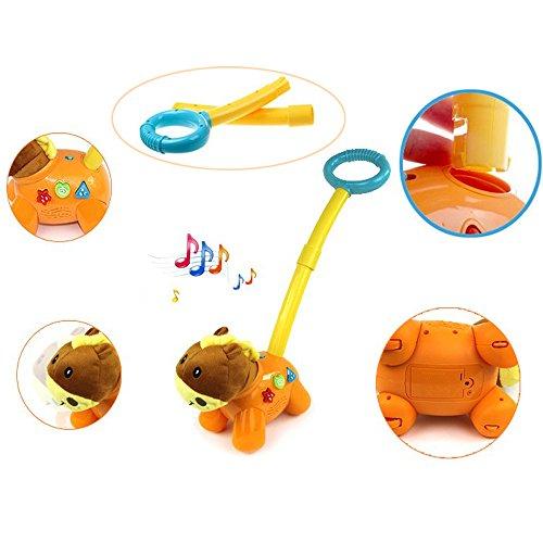 eonkoo Walking Education Musical Hand Pushing Gog Toy Walker For Toddler Xmas Gift