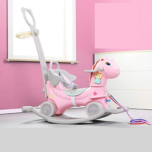Rocking Horse Trojan Child Rocking Horse Baby Rocking Horse Toy Rocking Car Dual Purpose Baby Yo-yo Gift FANJIANI Color  A2