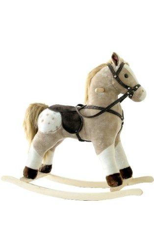 Alexander Taron Importer Pinto Plush Rocking Horse with Sound Effects