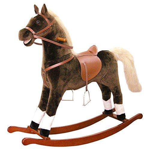 Plush rocking horse maxi brown