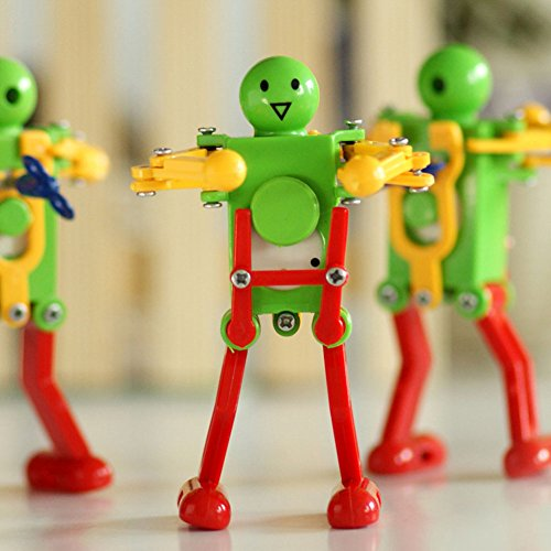 Novelty Clockwork Toy 3 pack Wind-up Toy Clockwork Spring toy Funny Dancing Robot For Children Kids baby Toy Xmas Gift Christmas Present
