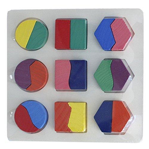 Learning Toys Kids First Wooden Blocks for Baby Shape Sorter Developmental Toy Set