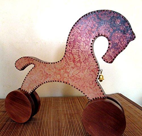 Handmade Wooden Toy Horse Beech Tree Children Kid Baby Eco-Friendly