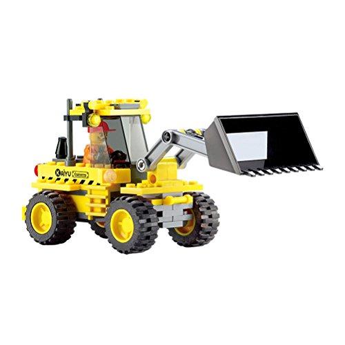 117 PCS Educational Bulldozer Toys Excavator