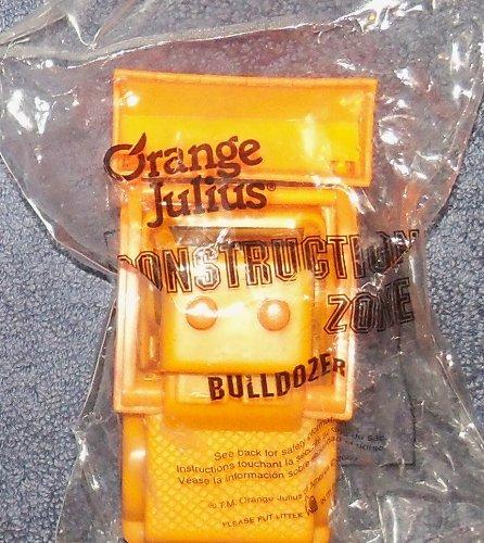 2002 Orange Julius Construction Zone Bulldozer Toy rare