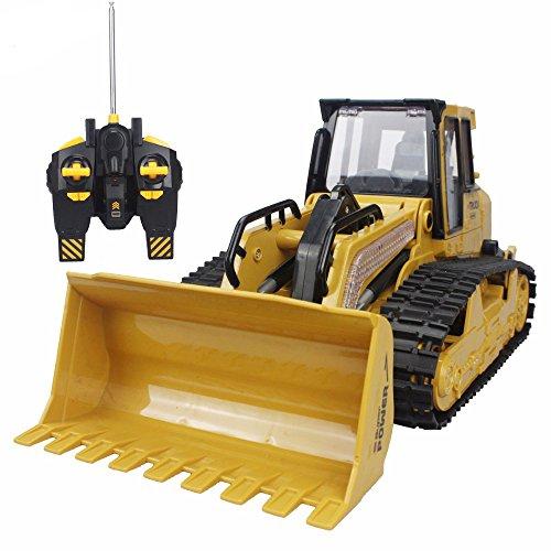 RC Truck Bulldozer 6CH Caterpillar Track Remote Control Simulation Pushdozer Engineering Forlift Truck Construction Model Toys