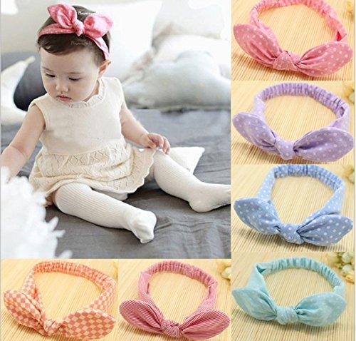 Babys Headbands Girls Cute Hair Bows Hair bands Newborn headband Pack of 6