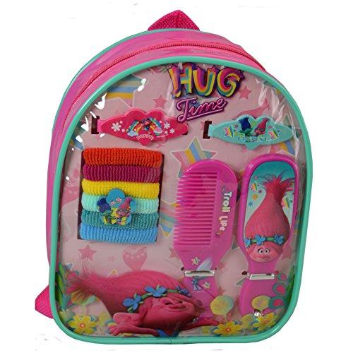 Girls Hair Accessory Backpack Trolls Licensed Princess Poppy Gift Set